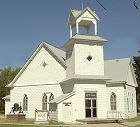 Milton Baptist Church in Milton, Kansas- © photo by Susan Howell, used by permission
