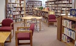 Inside the Norwich Community Library, Norwich, Kansas- © photo by Susan Howell, used by permission